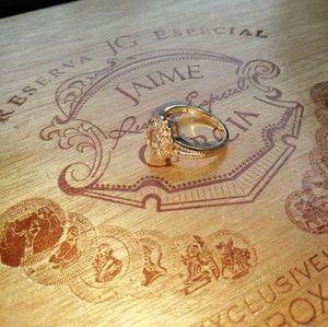 Jewelry - GEORGOUS .925 ROSE GOLD HONEY GEM DIAMONDS SZ. 7